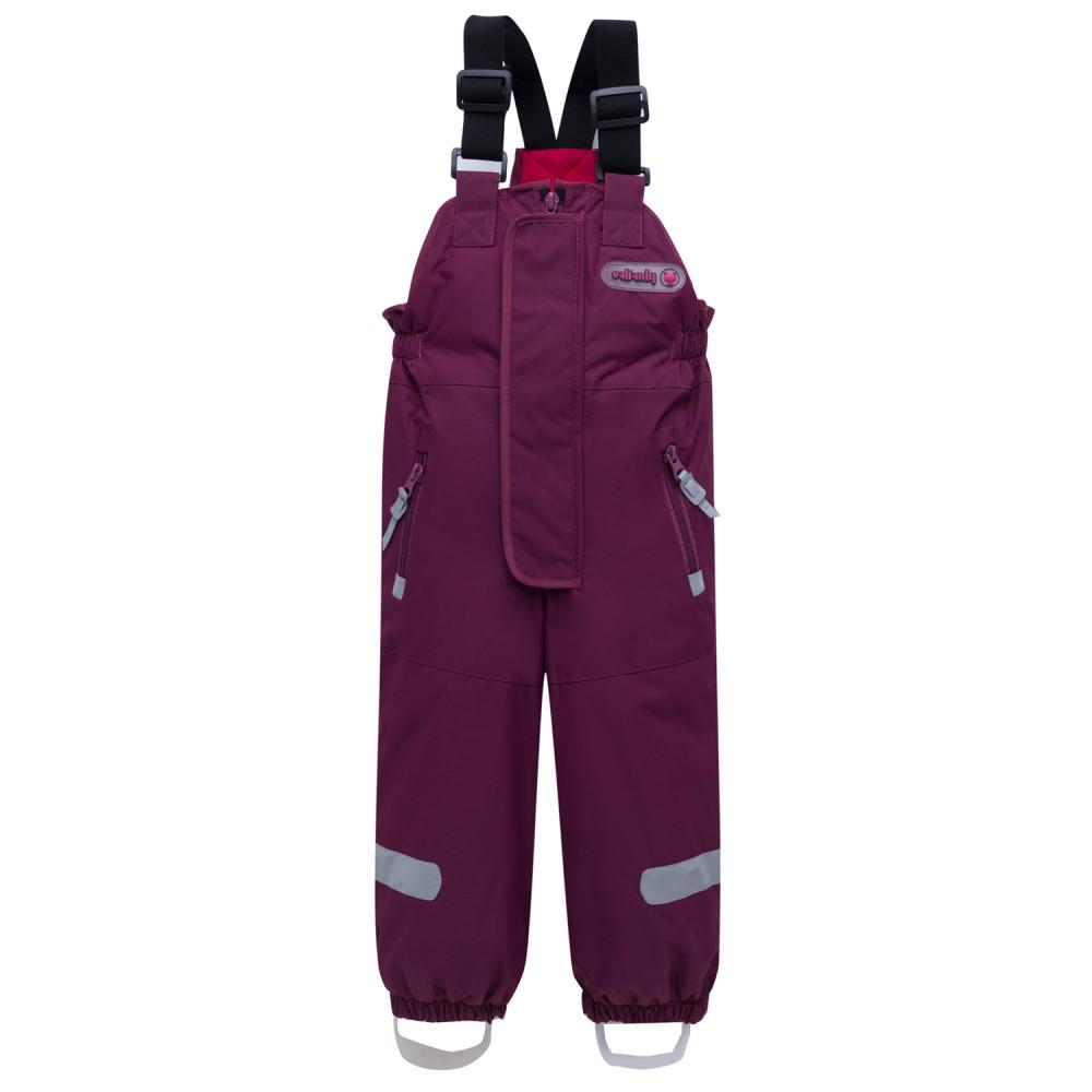 Купить оптом Горнолыжный костюм детский малинового цвета 8912М в Казани