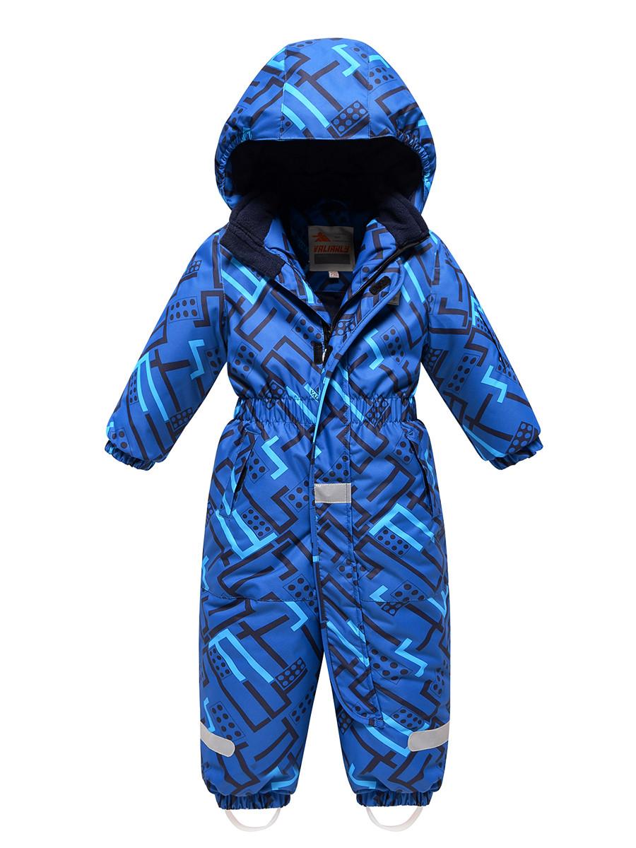 Купить оптом Комбинезон Valianly детский синего цвета 9025S в Екатеринбурге