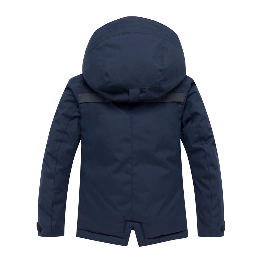 Купить оптом Горнолыжный костюм для мальчика темно-синего цвета 8921TS в Санкт-Петербурге