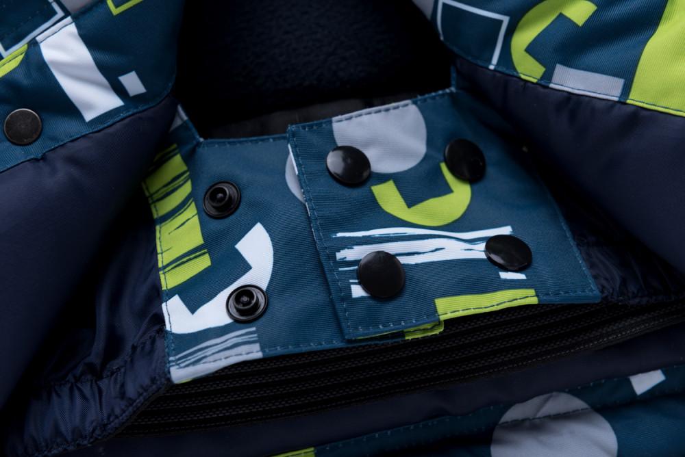 Купить оптом Горнолыжный костюм для мальчика синего цвета 8925S в Сочи
