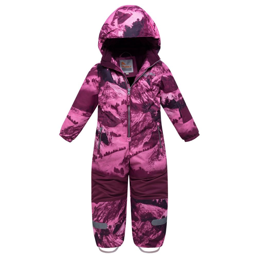 Купить оптом Комбинезон для девочки зимний малинового цвета 8907М в Екатеринбурге