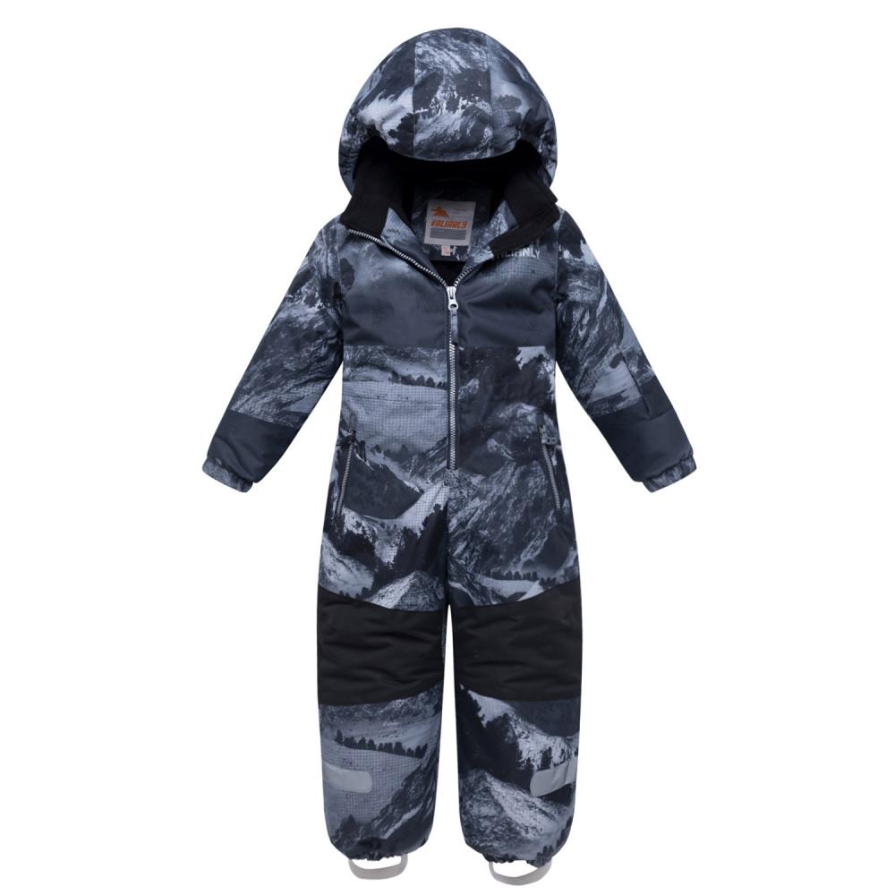 Купить оптом Комбинезон для мальчика зимний серого цвета 8907Sr в Новосибирске
