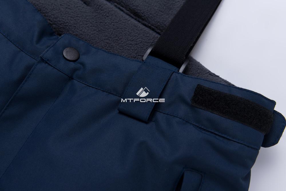 Купить оптом Горнолыжный костюм подростковый для мальчика синего цвета 8917S в Казани