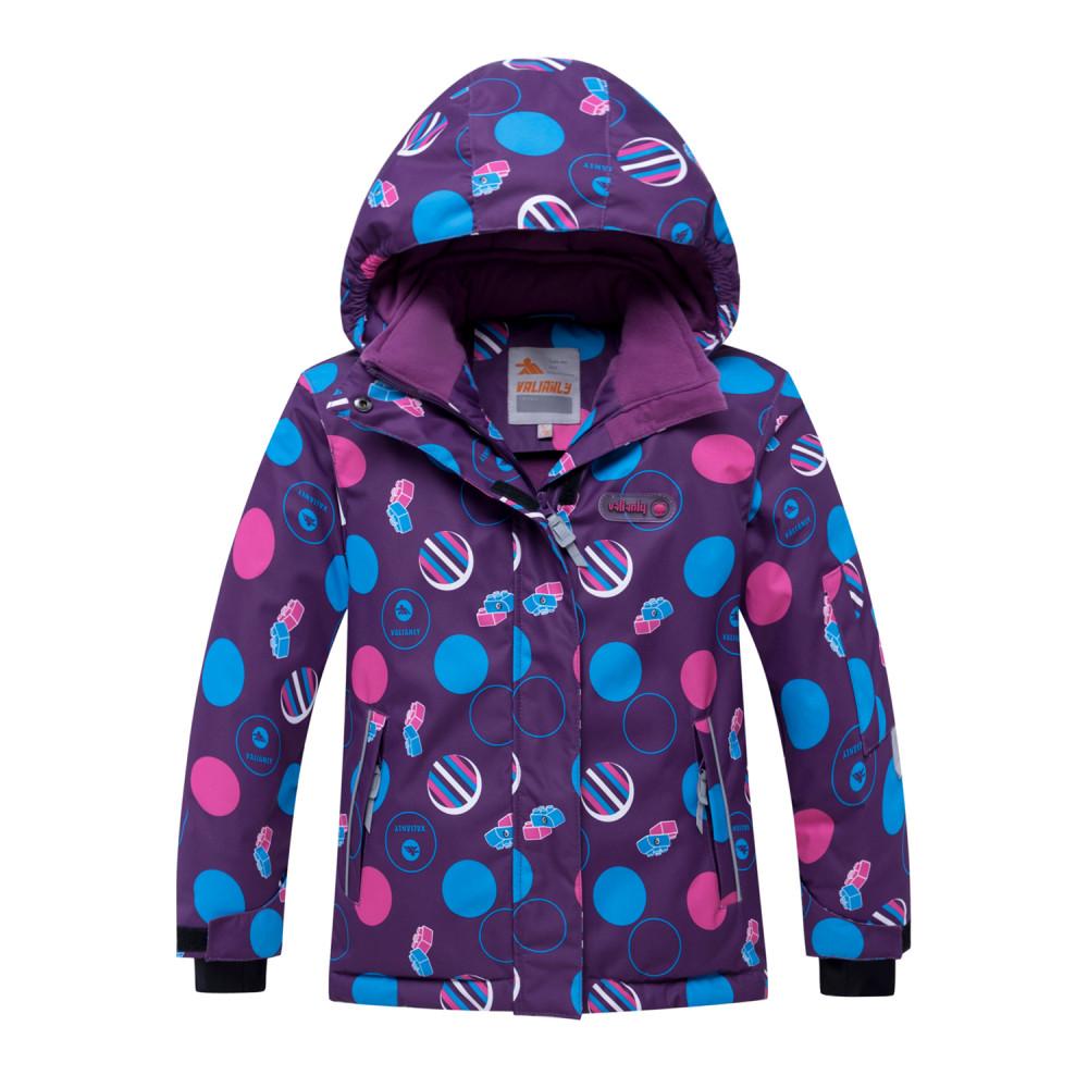 Купить оптом Горнолыжный костюм подростковый для девочки фиолетового цвета 8916F в Волгоградке
