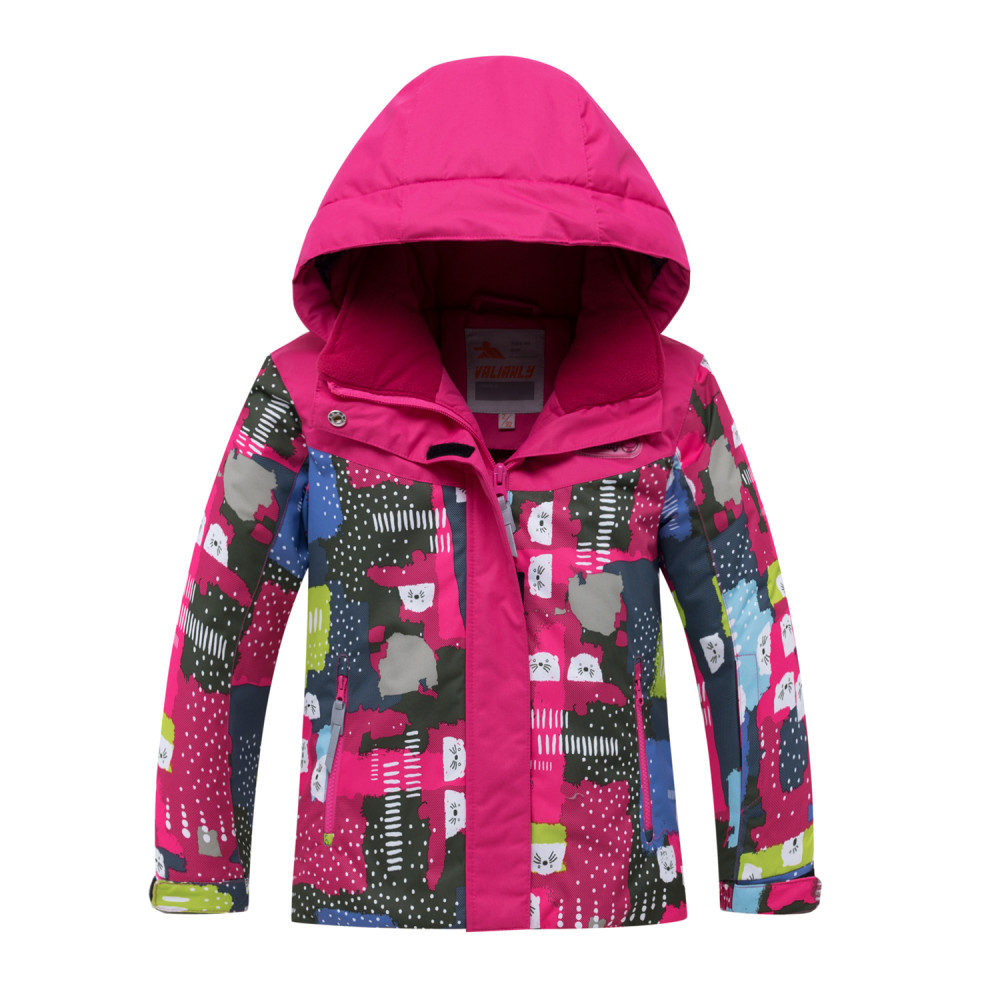Купить оптом Горнолыжный костюм для ребенка розового цвета 8926R в Санкт-Петербурге