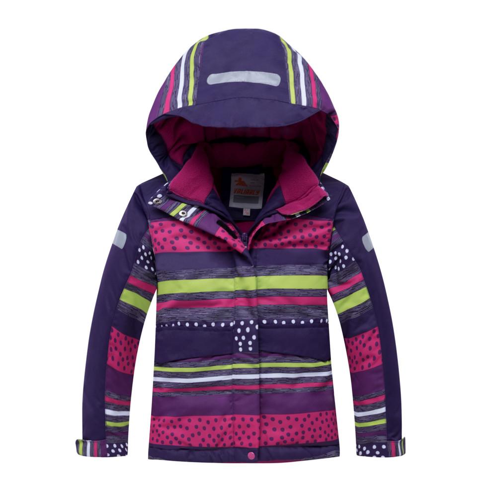 Купить оптом Горнолыжный костюм подростковый для девочки темно-фиолетового 8930TF в Волгоградке