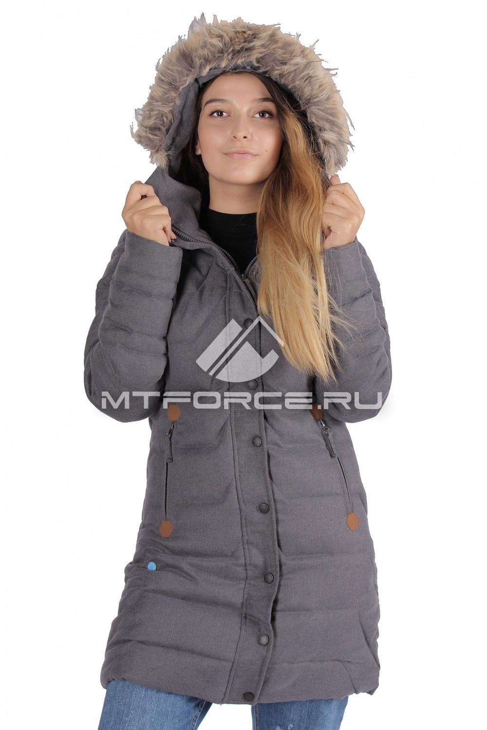 Купить оптом Куртка зимняя женская серый цвета F01Sr