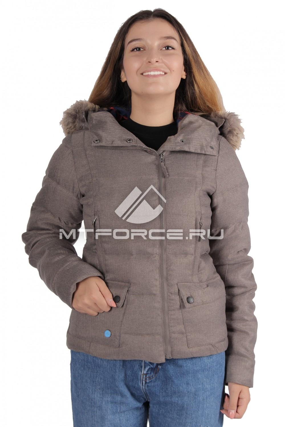 Купить                                  оптом Куртка зимняя женская серого цвета F04Sr