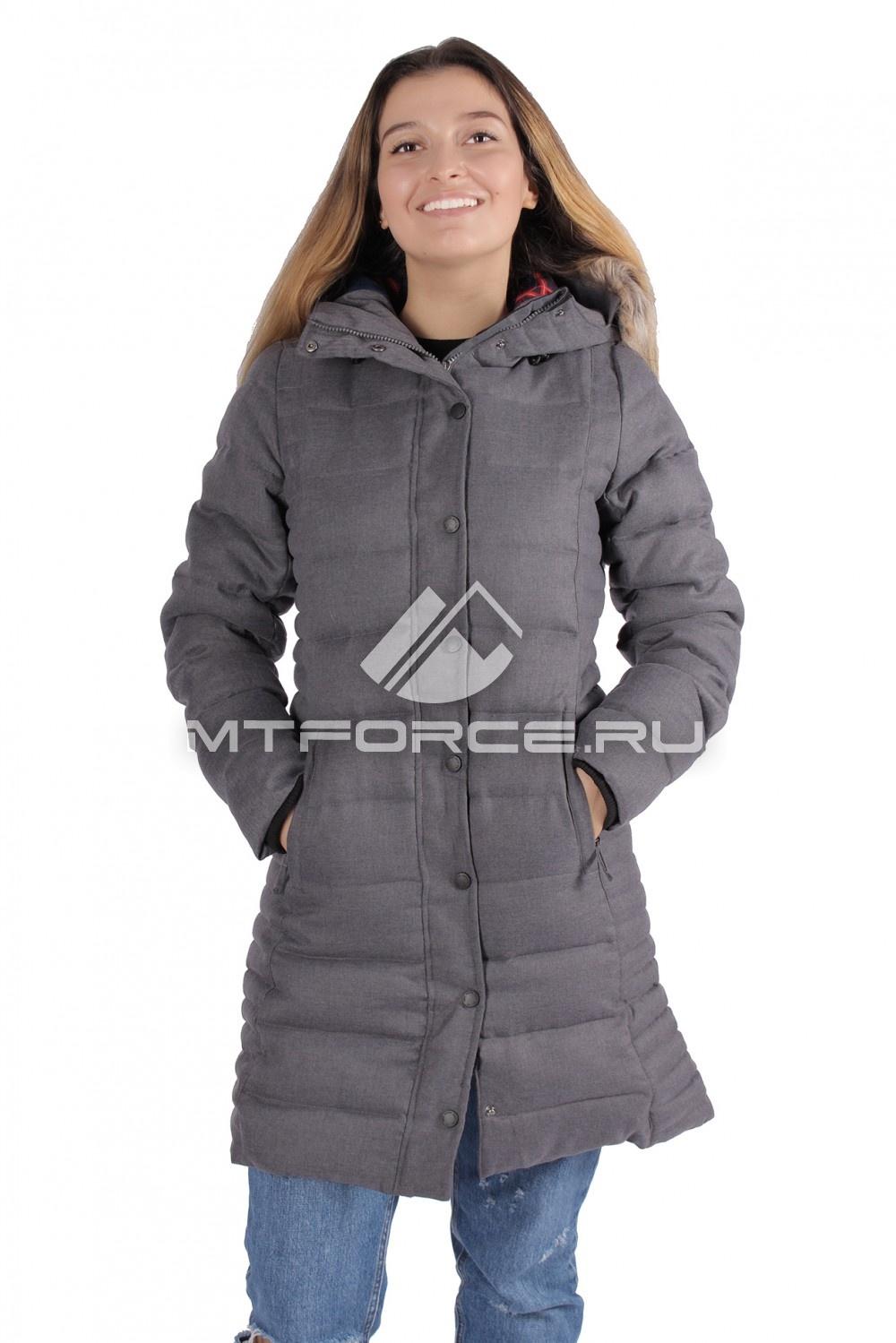 Купить                                  оптом Куртка зимняя женская серый цвета F05Sr