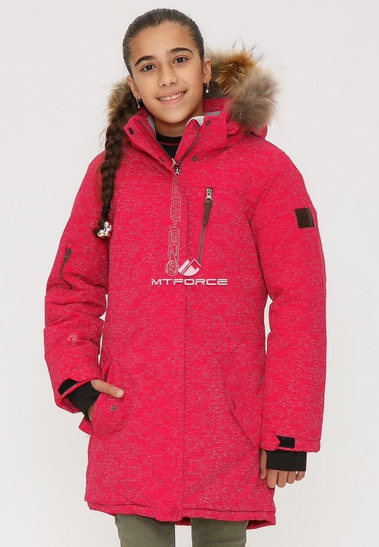 Купить оптом Куртка парка зимняя подростковая для девочки розового цвета G27R в Казани