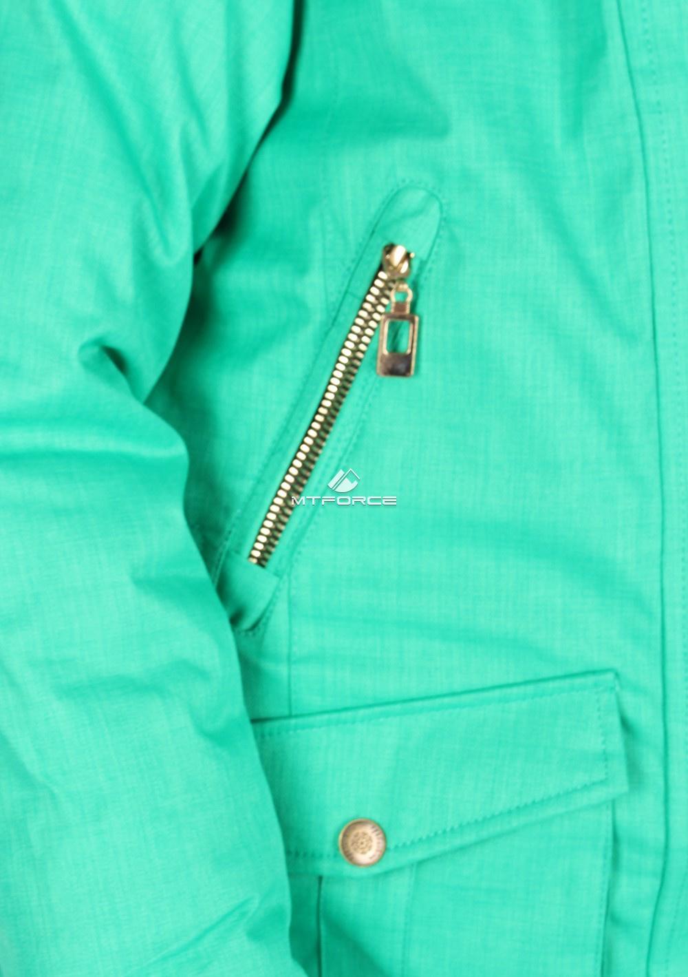 Купить оптом Куртка парка зимняя подростковая для девочки зеленого цвета G61Z