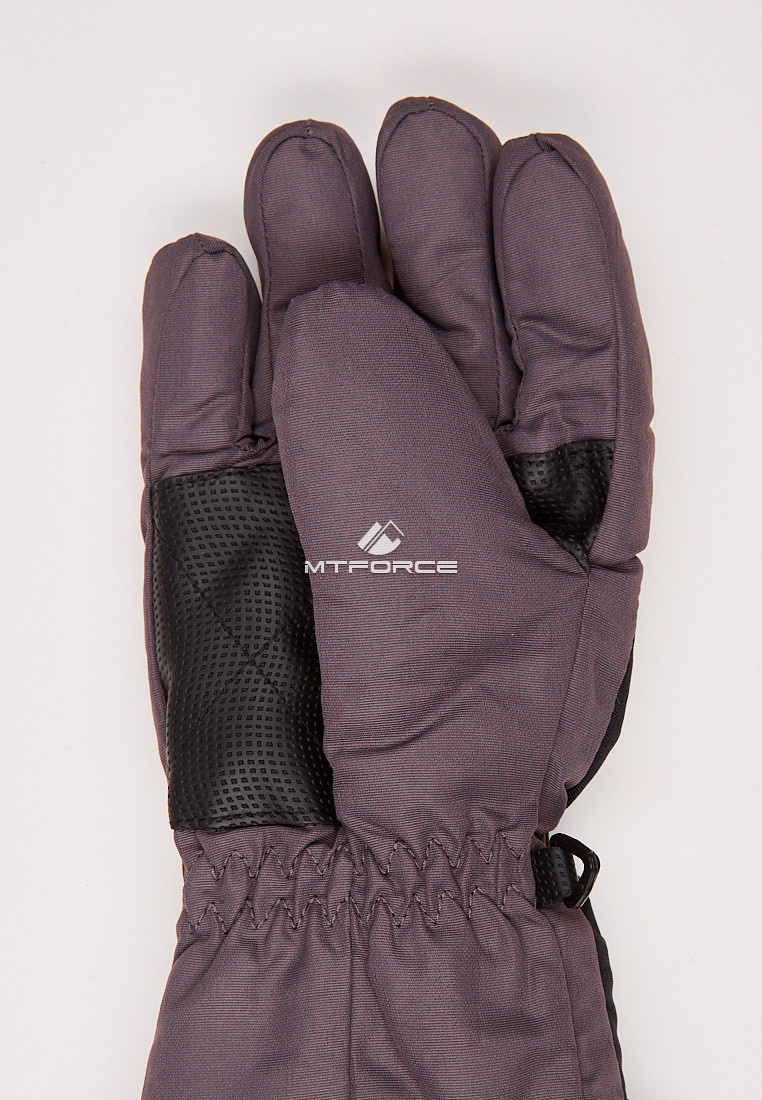 Купить оптом Перчатки подростковые горнолыжные черного цвета CV-94Ch