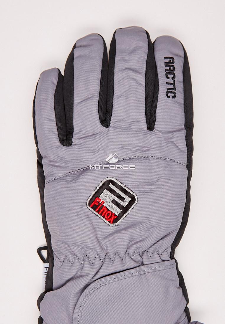 Купить оптом Перчатки подростковые горнолыжные серого цвета CV-94Sr