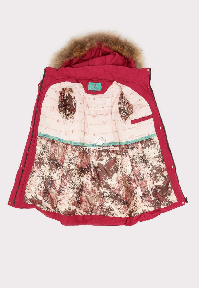 Купить оптом Куртка парка зимняя подростковая для девочки бордового цвета HM-109Bo