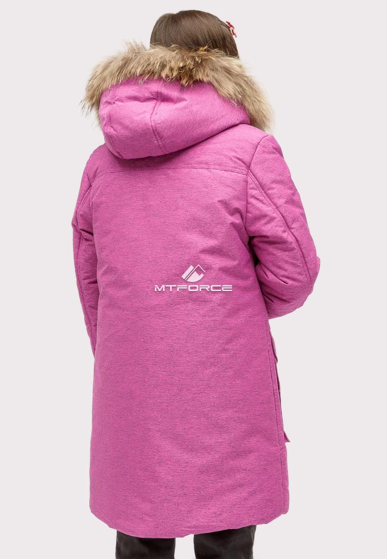 Купить оптом Куртка парка зимняя подростковая для девочки фиолетового цвета HM-109F