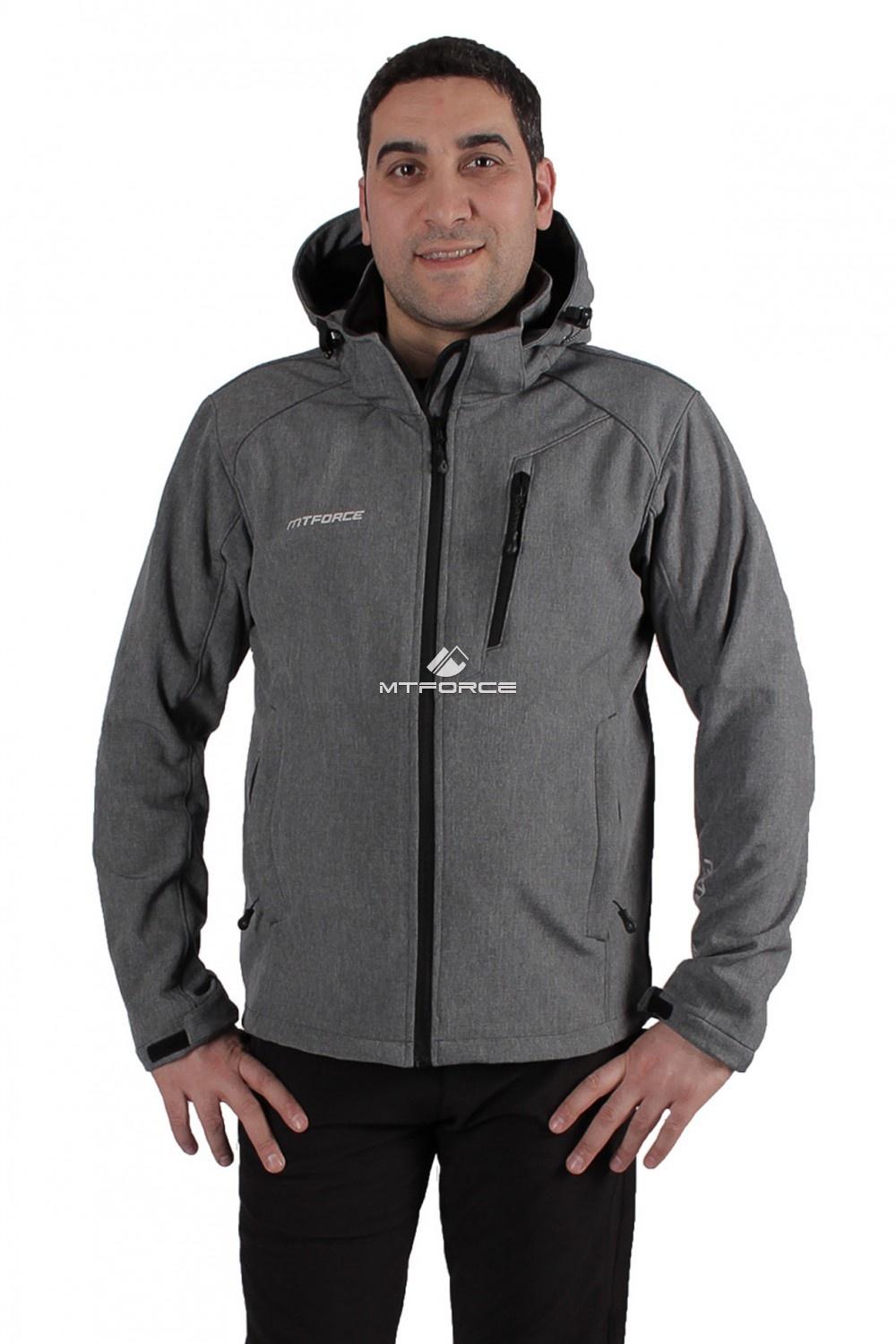 Купить  оптом Ветровка - виндстоппер мужская серого цвета 1732Sr