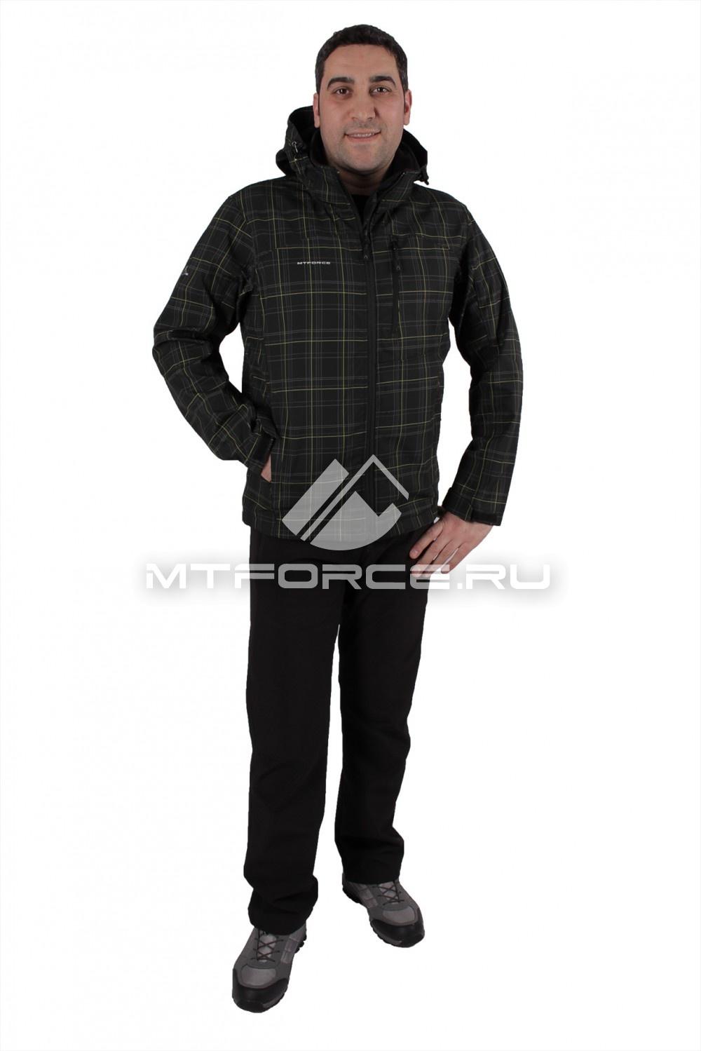 Купить  оптом Костюм виндстопер мужской черного цвета  01682Ch
