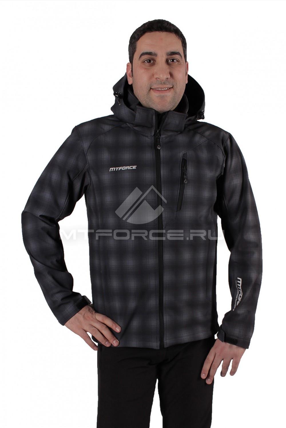 Купить  оптом Ветровка - виндстоппер мужская темно-серого цвета 1732TC в Санкт-Петербурге