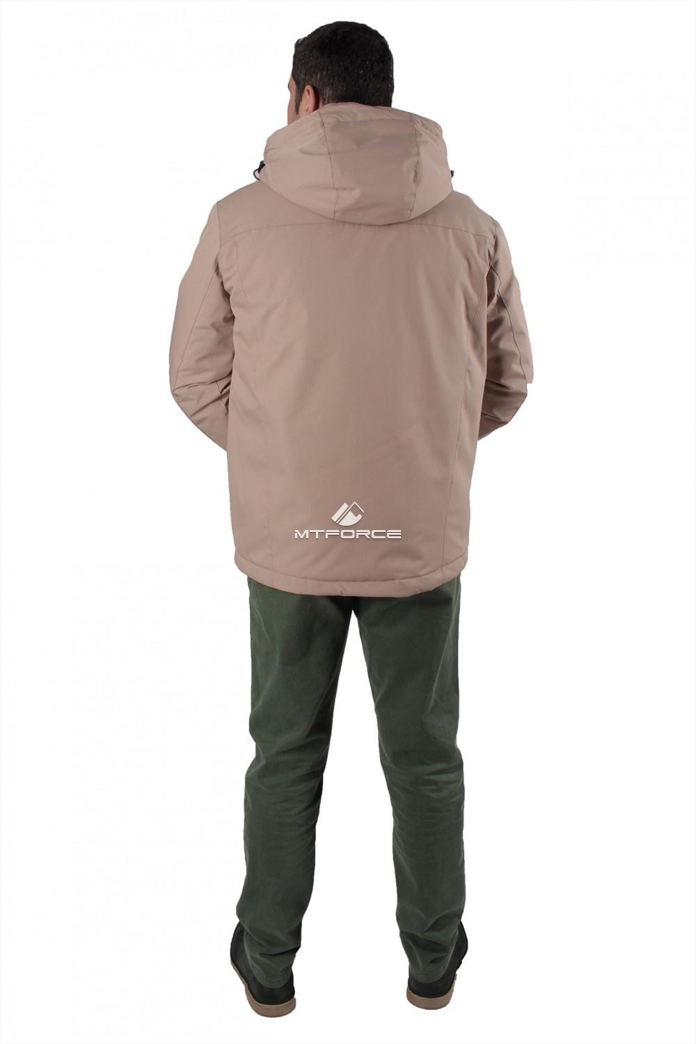 Купить оптом Куртка мужская осень весна бежевого цвета 1718-1B в Волгоградке