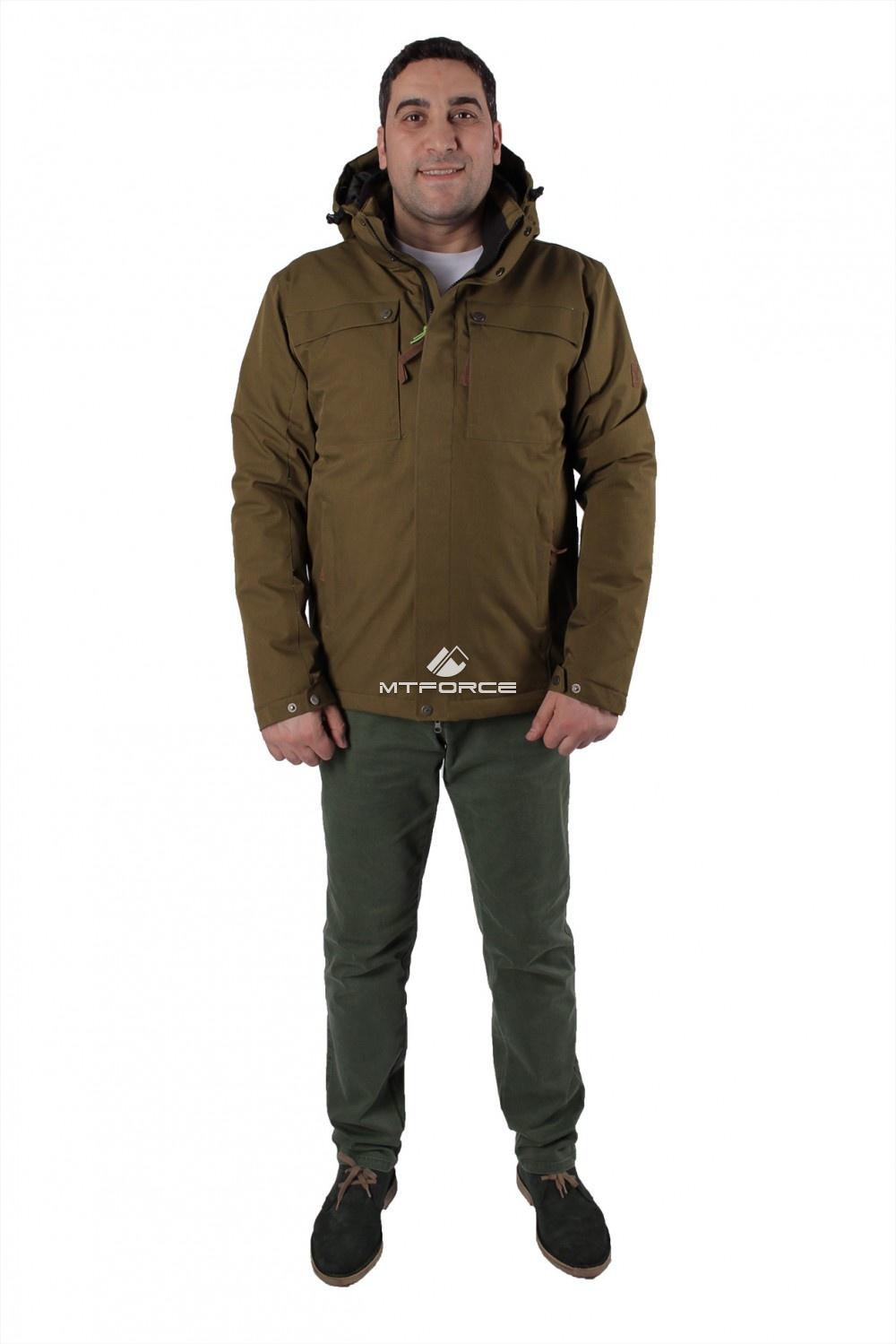 Купить оптом Куртка мужская осень весна цвета хаки 1718-1Kh в Санкт-Петербурге