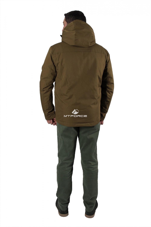 Купить оптом Куртка мужская осень весна цвета хаки 1718-1Kh в Омске