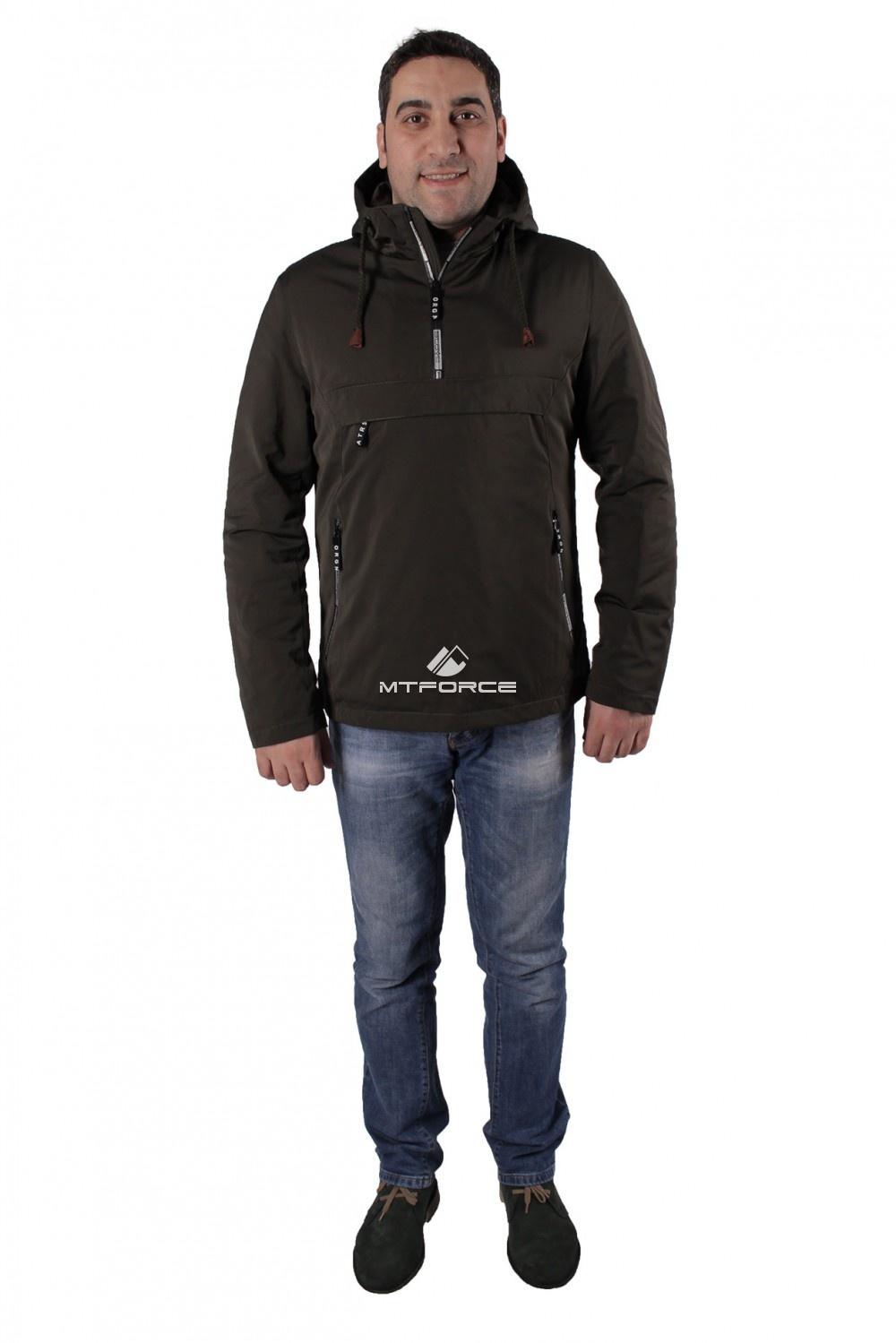 Купить оптом Куртка анорак мужская цвета хаки 737Kh в Санкт-Петербурге