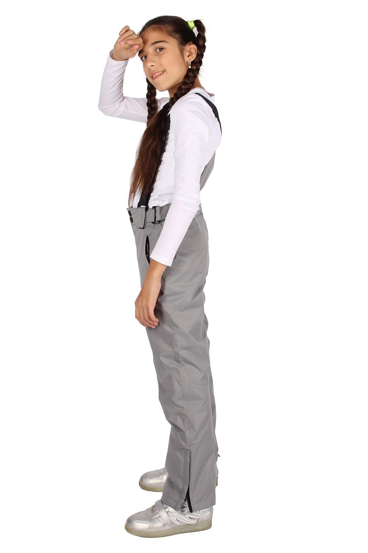 Купить оптом Брюки горнолыжные подростковые для девочки серого цвета 816Sr в Волгоградке