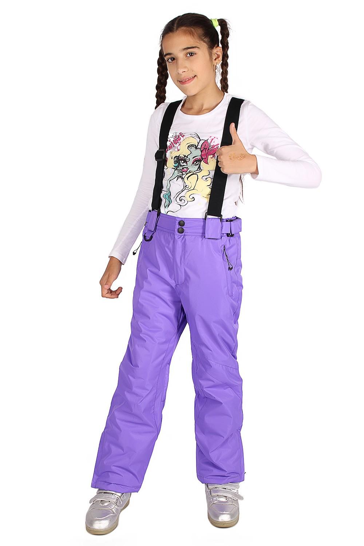 Купить оптом Брюки горнолыжные подростковые для девочки фиолетового цвета 816F в Воронеже