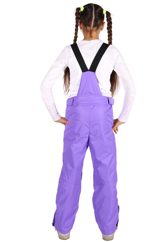 Купить оптом Брюки горнолыжные подростковые для девочки фиолетового цвета 816F в Екатеринбурге