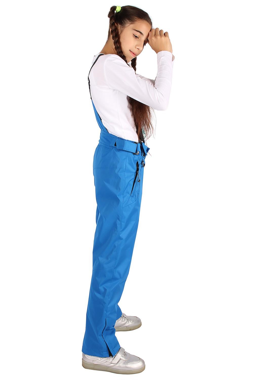 Купить оптом Брюки горнолыжные подростковые для девочки синего цвета 816S в Екатеринбурге