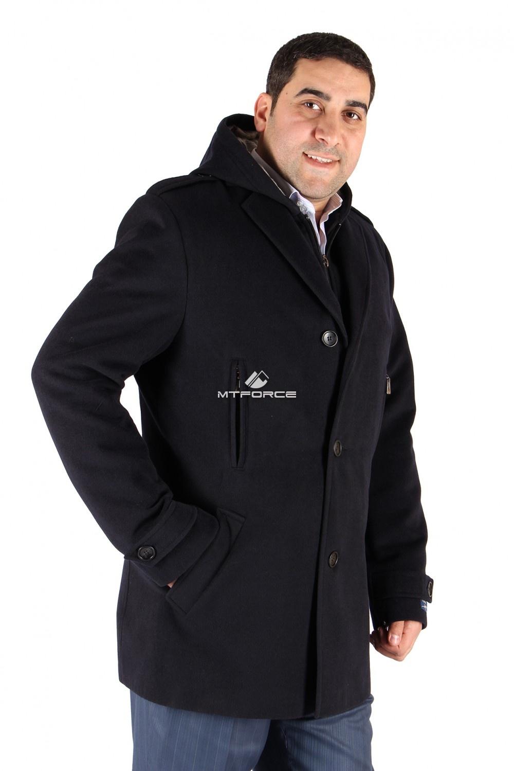 Купить оптом Полупальто мужское темно-синего цвета Км-01ТS в Санкт-Петербурге