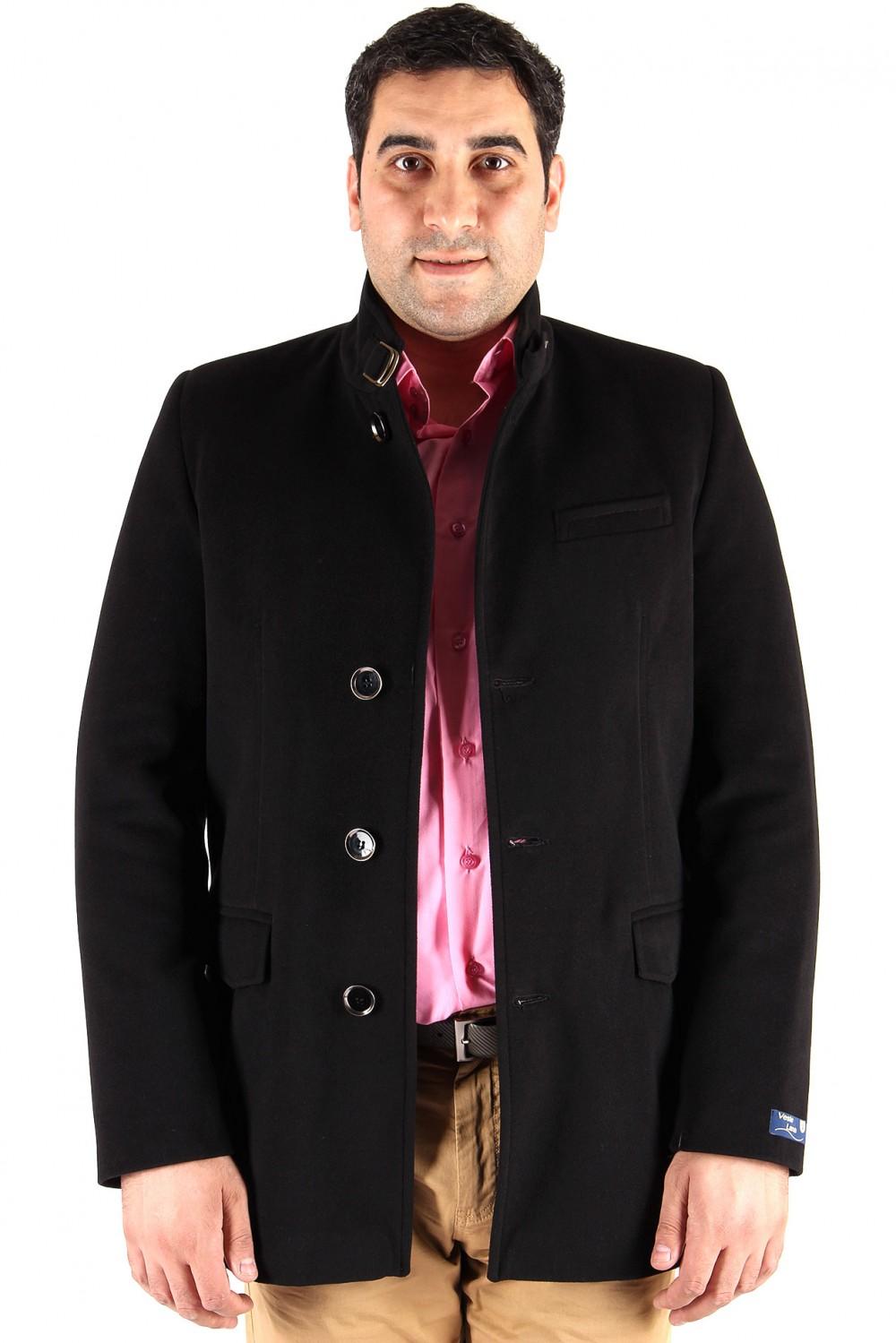 Купить оптом Полупальто мужское черного цвета Кс-22Ch