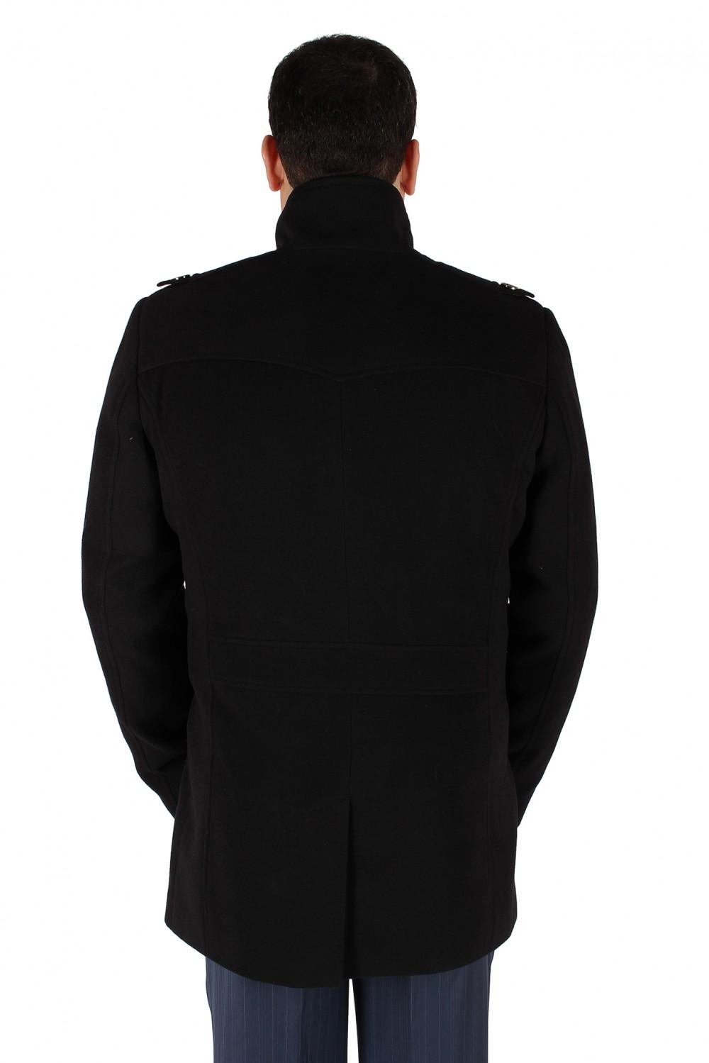 Купить оптом Полупальто мужское черного цвета Кс-25Ch в Казани