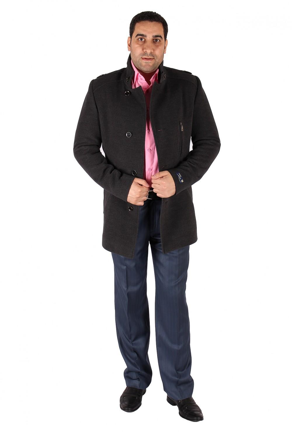 Купить оптом Полупальто мужское серого цвета Кс-25Sr в Самаре