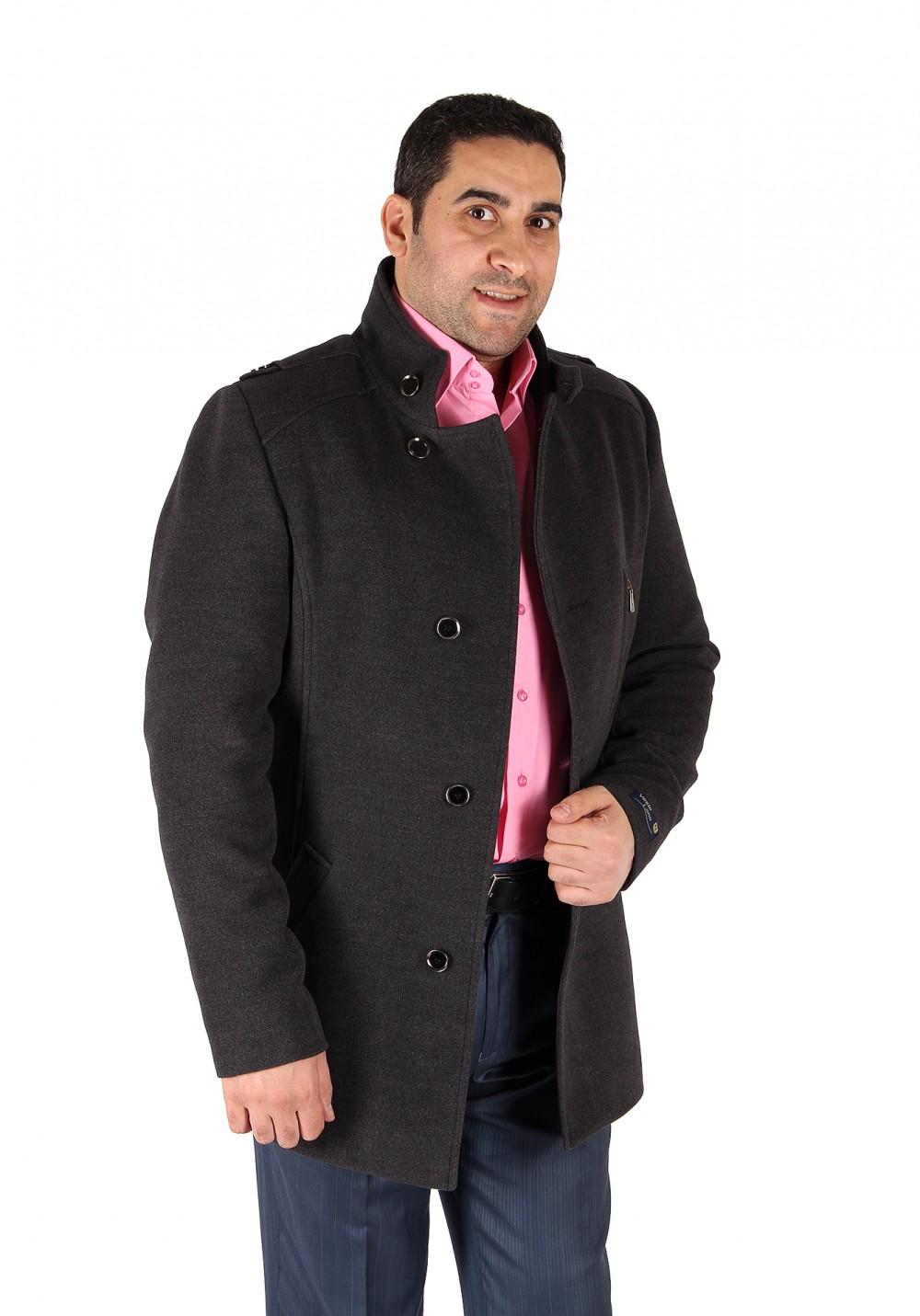 Купить оптом Полупальто мужское серого цвета Кс-25Sr