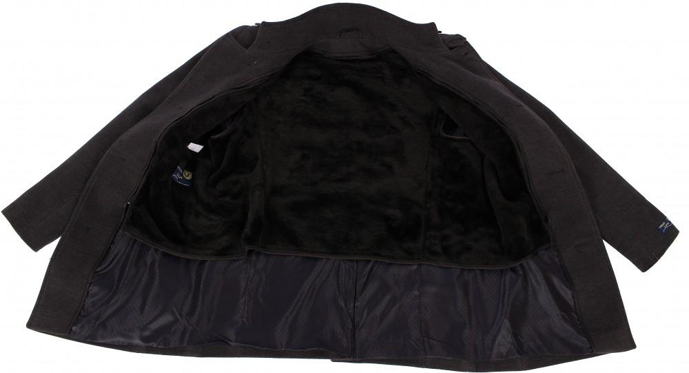 Купить оптом Полупальто мужское черного цвета Кс-25Ch в Новосибирске