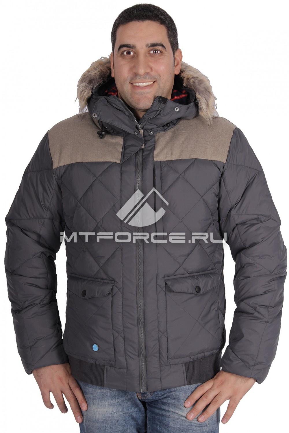 Купить оптом Куртка зимняя мужская серого цвета M03Sr