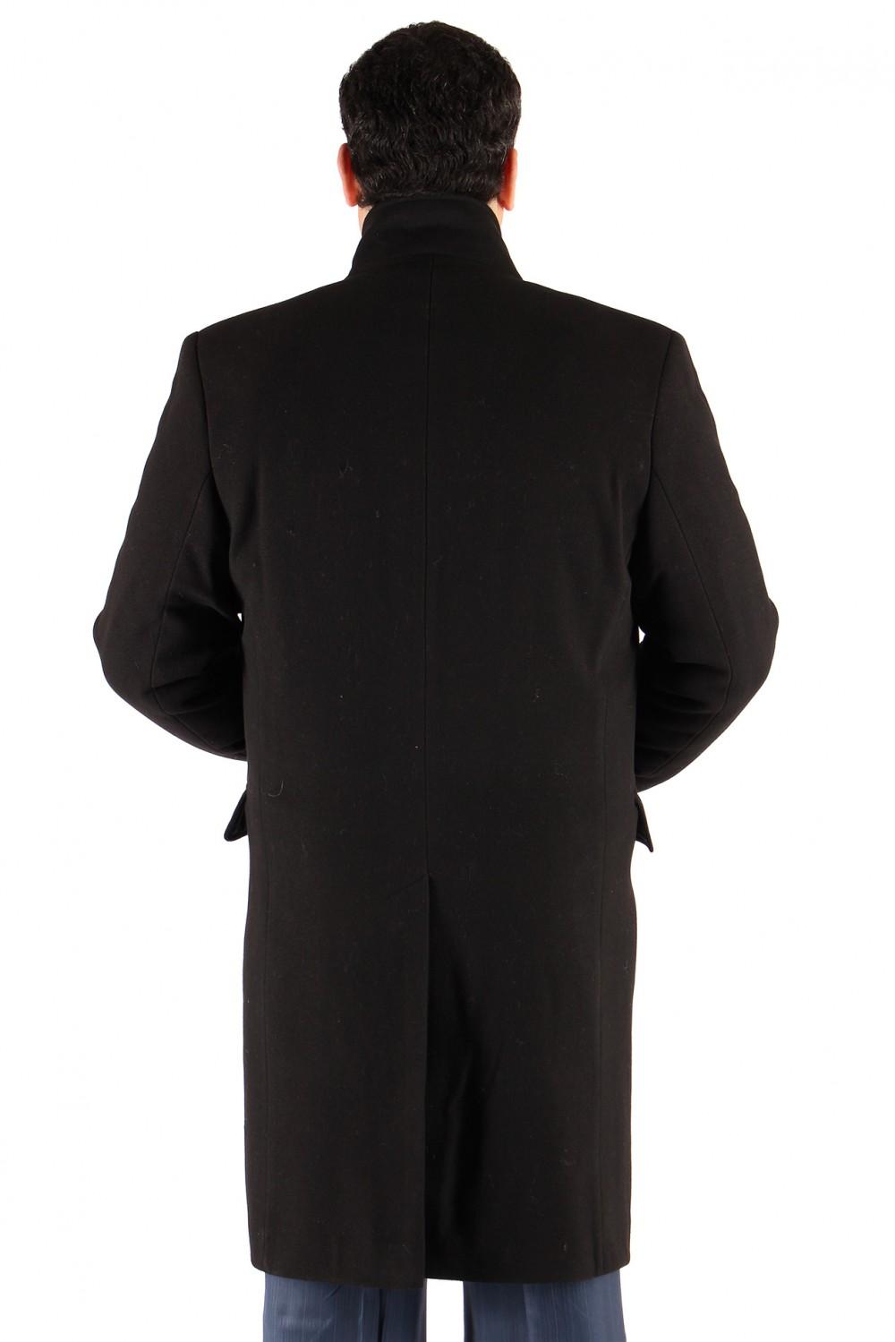 Купить оптом Пальто мужское черного цвета M-23Ch в Екатеринбурге