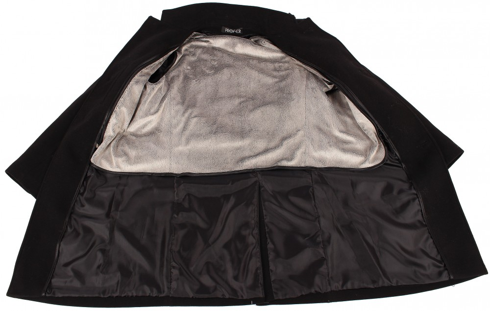 Купить оптом Пальто мужское черного цвета M-23Ch в Перми