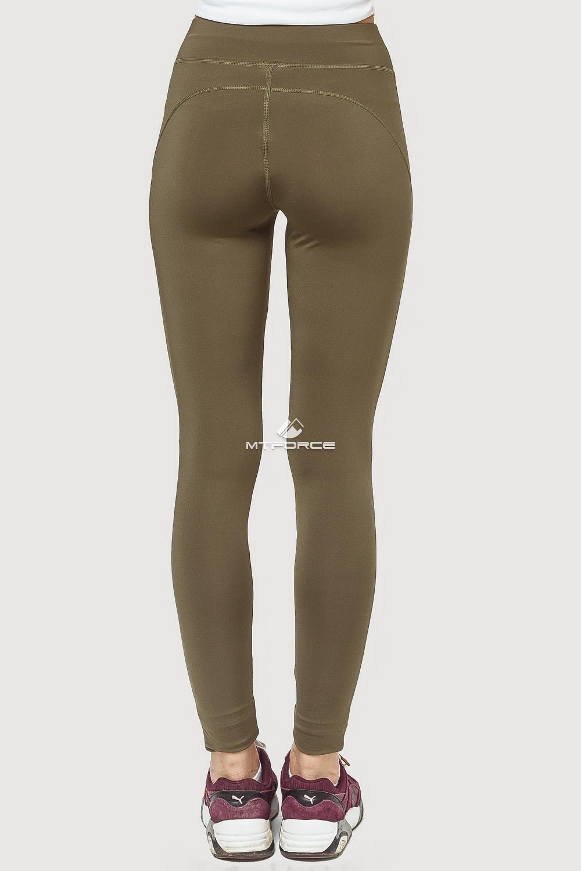 Купить оптом Брюки легинсы женские цвета хаки 192Kh в Волгоградке