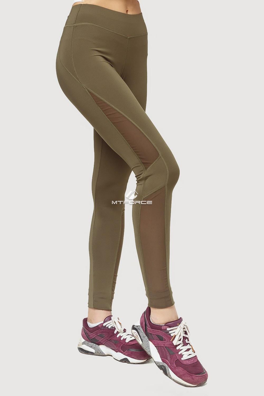 Купить оптом Брюки легинсы женские цвета хаки 192Kh в Казани