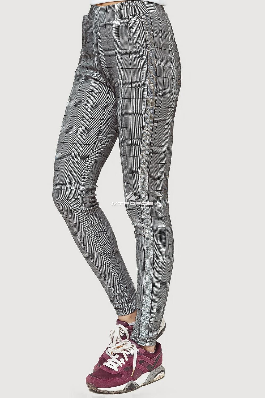 Купить оптом Брюки женские классические серого цвета 199Sr в Омске