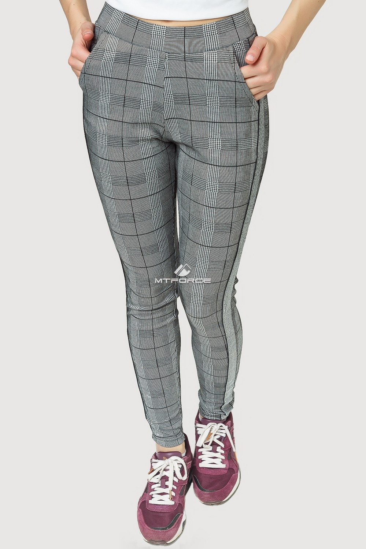 Купить оптом Брюки женские классические серого цвета 199Sr в Сочи
