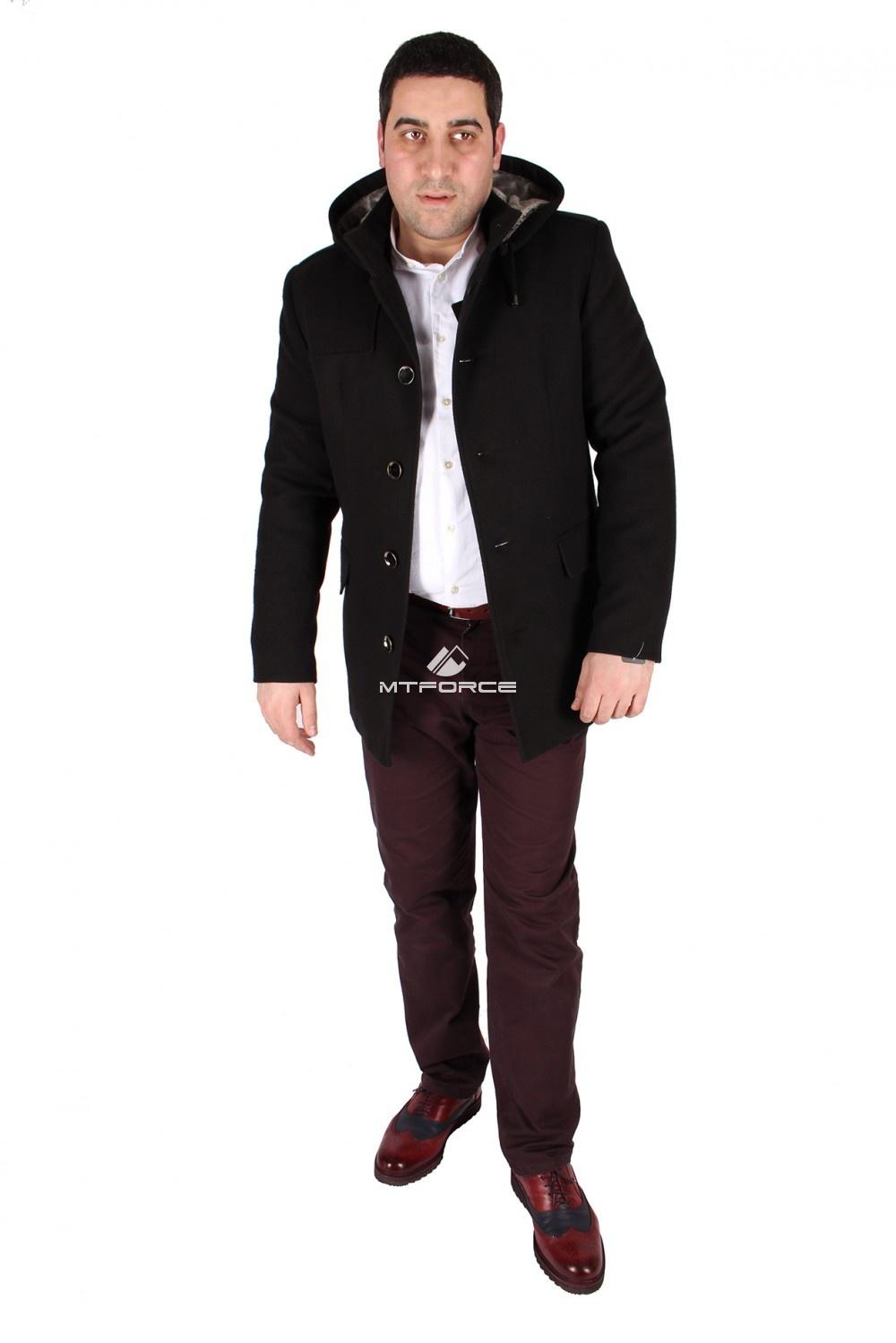 Купить                                  оптом Полупальто мужское черного цвета M27Ch