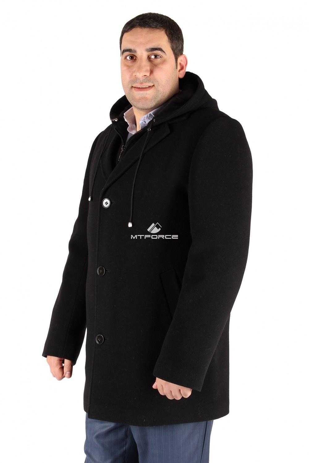 Купить                                  оптом Полупальто мужское черного цвета МР-2Ch