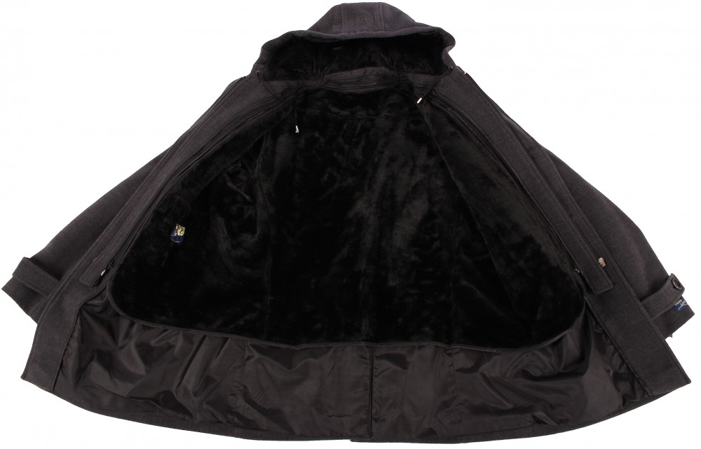 Купить оптом Полупальто мужское серого цвета Мс-01Sr в Екатеринбурге