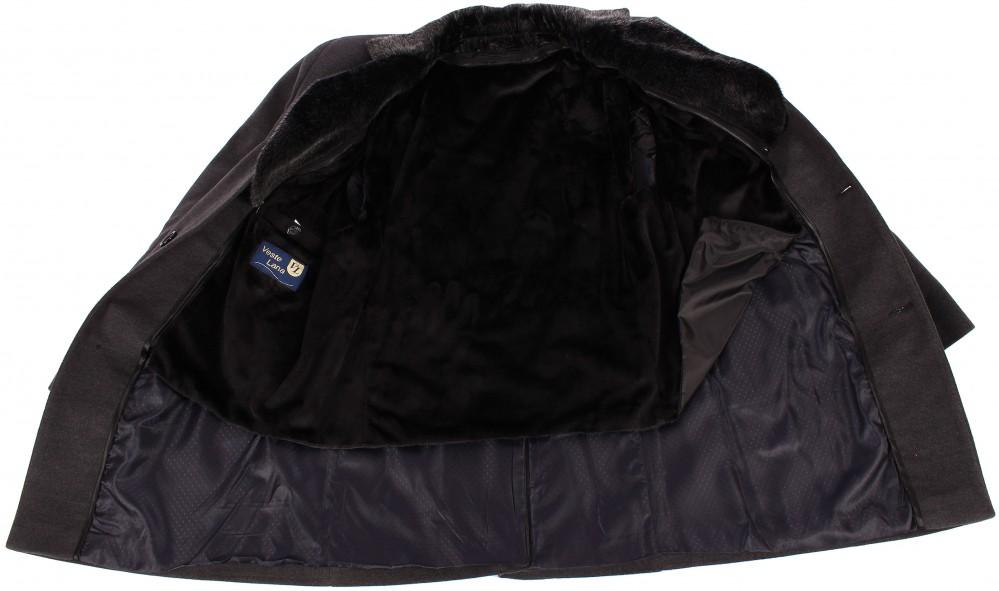 Купить оптом Пальто мужское серого цвета Mc-17Sr