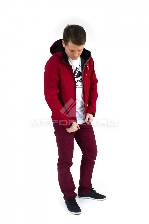 Купить  оптом Ветровка - виндстоппер мужская бордового цвета 16171Bo