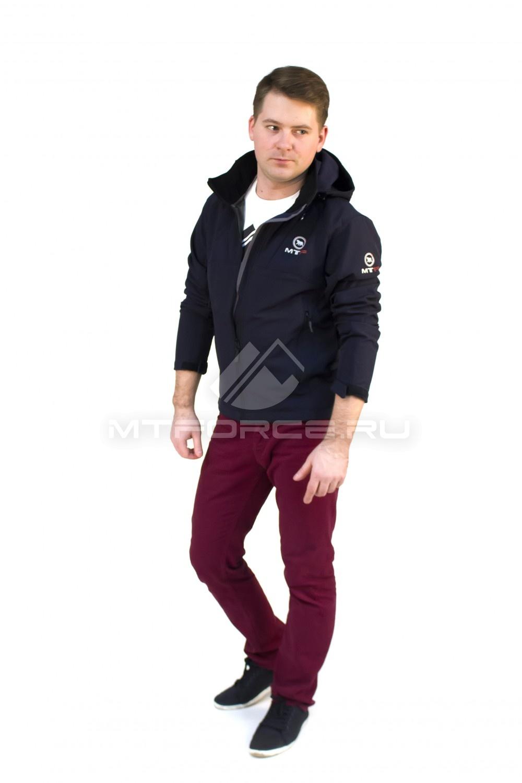 Купить  оптом Ветровка - виндстоппер мужская темно-синего цвета 16171TS