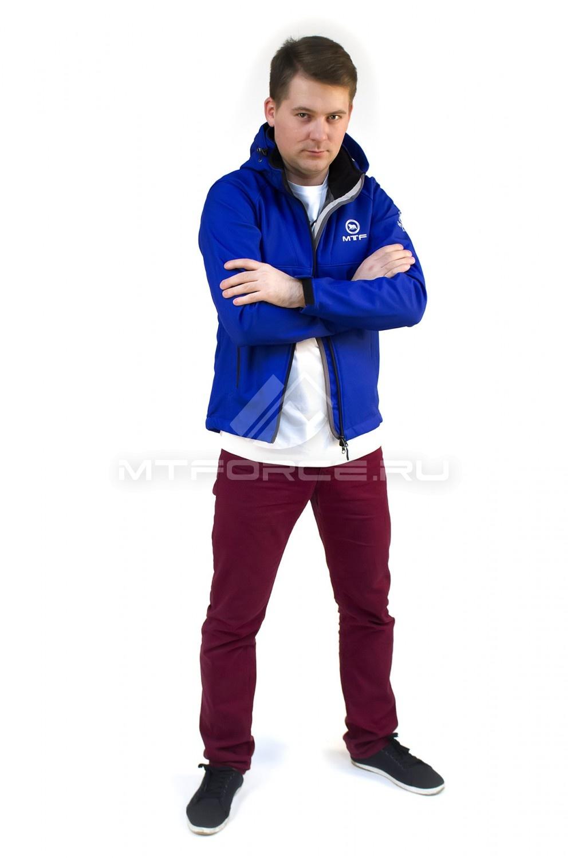 Купить                                  оптом Ветровка - виндстоппер мужская синего цвета 16171S в Новосибирске